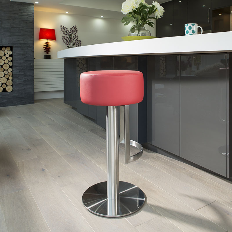 Luxury Red Kitchen Counter Bar Stool Seat Barstool