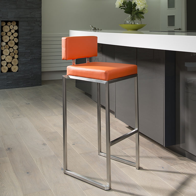 Luxury Orange Kitchen Breakfast Bar StoolSeatBarstool