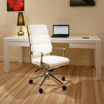 View Item ExDisplay Luxury Office Chair Ivory Leather Executive Ergonomic Sav