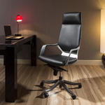 View Item Luxury High Back Office Chair Black Executive Ergonomic Modern Xenon