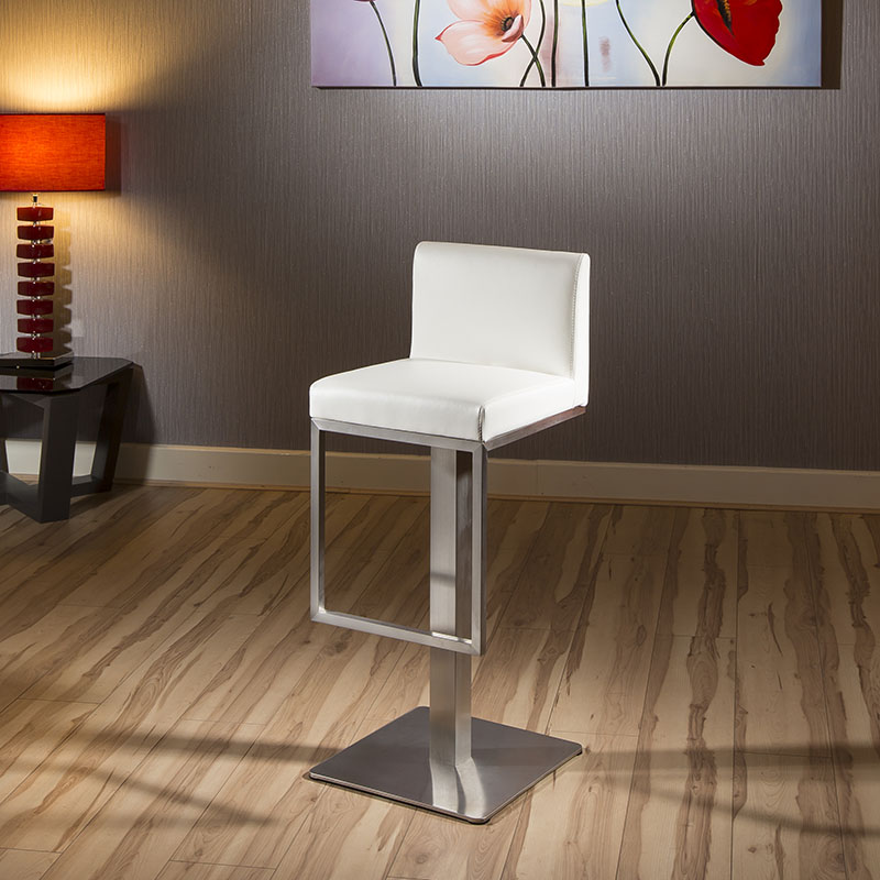 quatropi luxury white kitchen breakfast bar stool seat