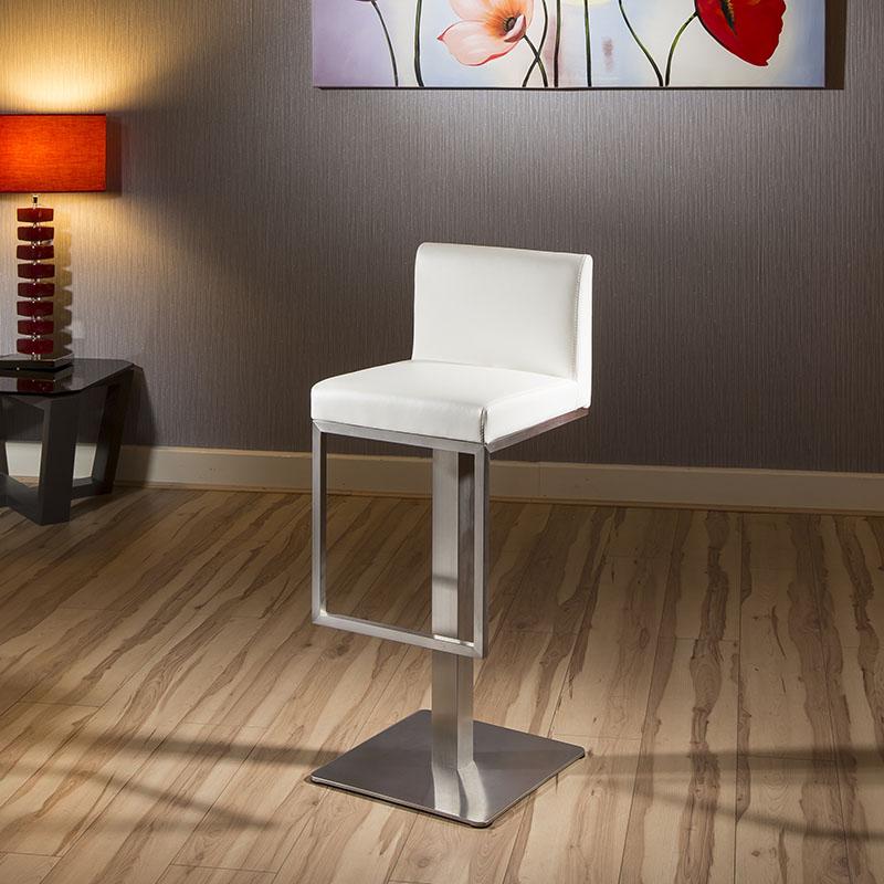 Quatropi luxury white kitchen breakfast bar stool seat for Luxury breakfast bar stools