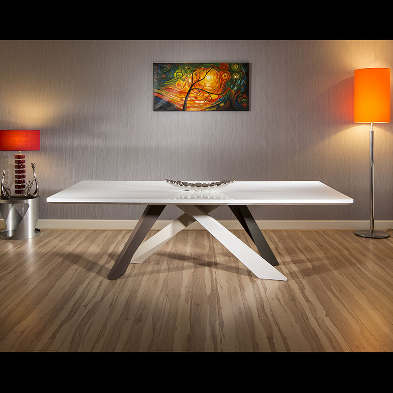 Designer large 12 seater white top dining boardroom for 12 seater dining table uk