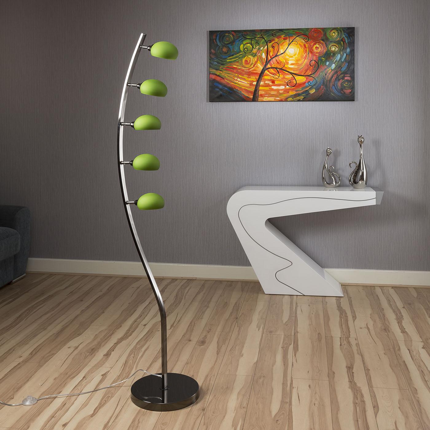 Modern Floor/Standard Lamp/Light / Lighting 5 Green Glass