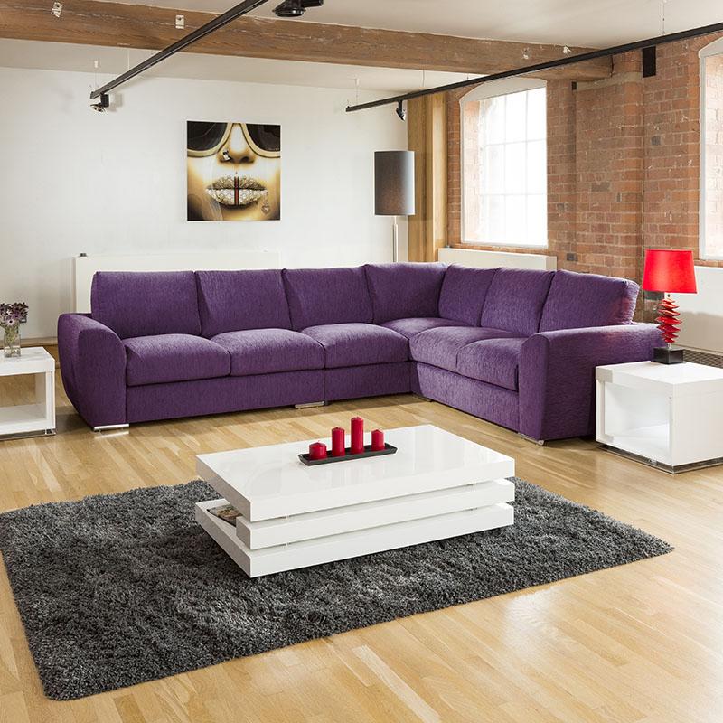 Large Corner Sofas Ebay Uk: Extra Large L Shape Sofa Set Settee Corner Group 335x265cm