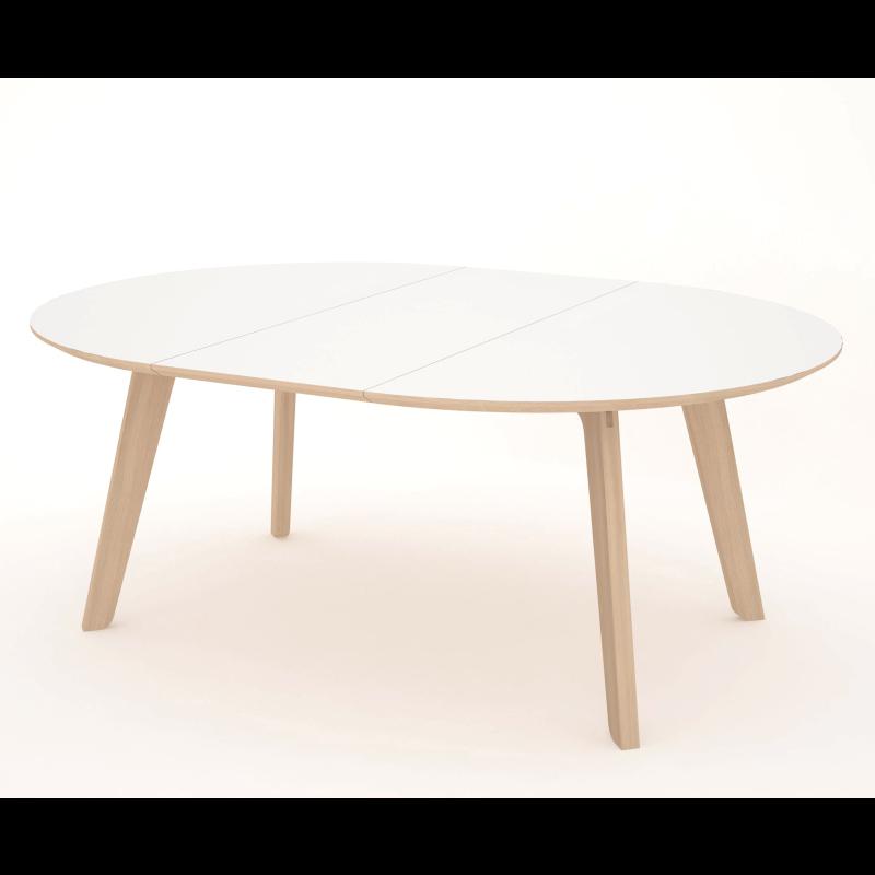 White Oval Dining Table : craftO160C6whiteharlekin1leaf from hwiki.us size 800 x 800 jpeg 96kB