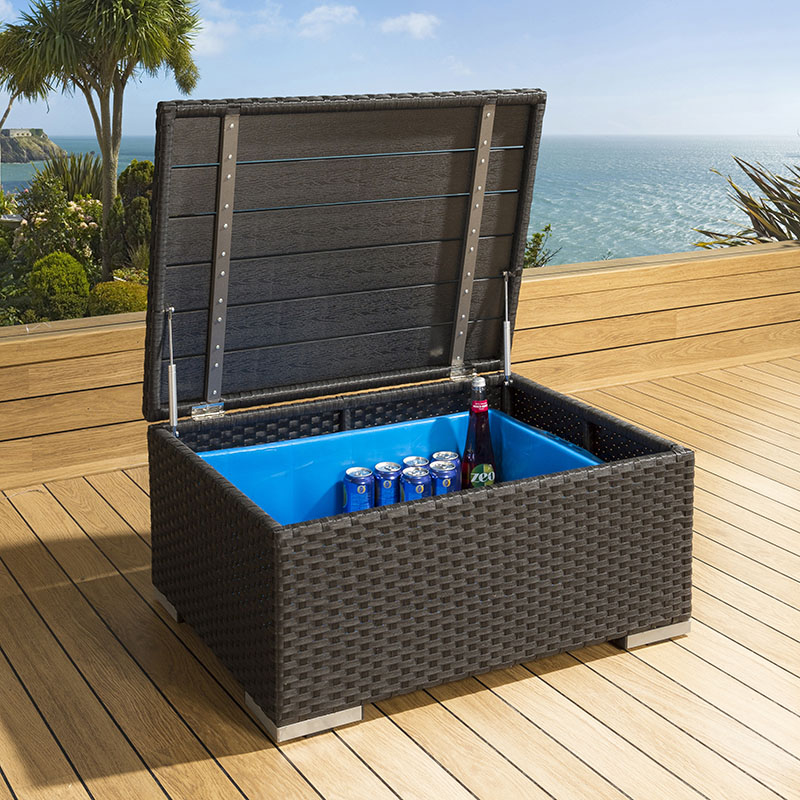 Luxury Outdoor Garden Rattan Coffee Table / Storage