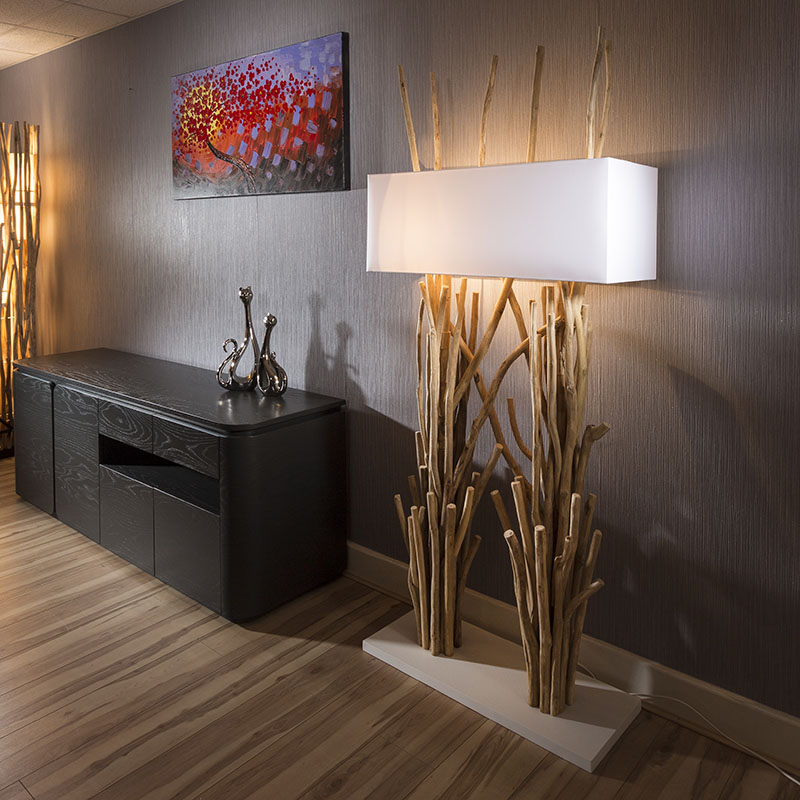 beautiful tall modern designer driftwood floor lamp light. Black Bedroom Furniture Sets. Home Design Ideas