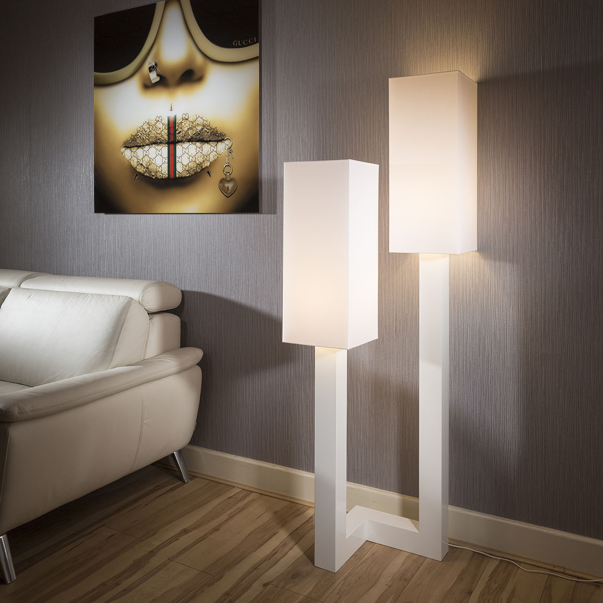 Beautiful Unique Modern Designer Floor Lamp Light White 1