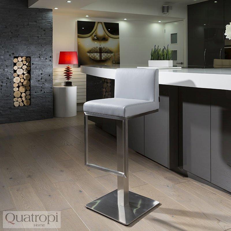 Quatropi Luxury Grey Breakfast Kitchen Bar Stool /Seat