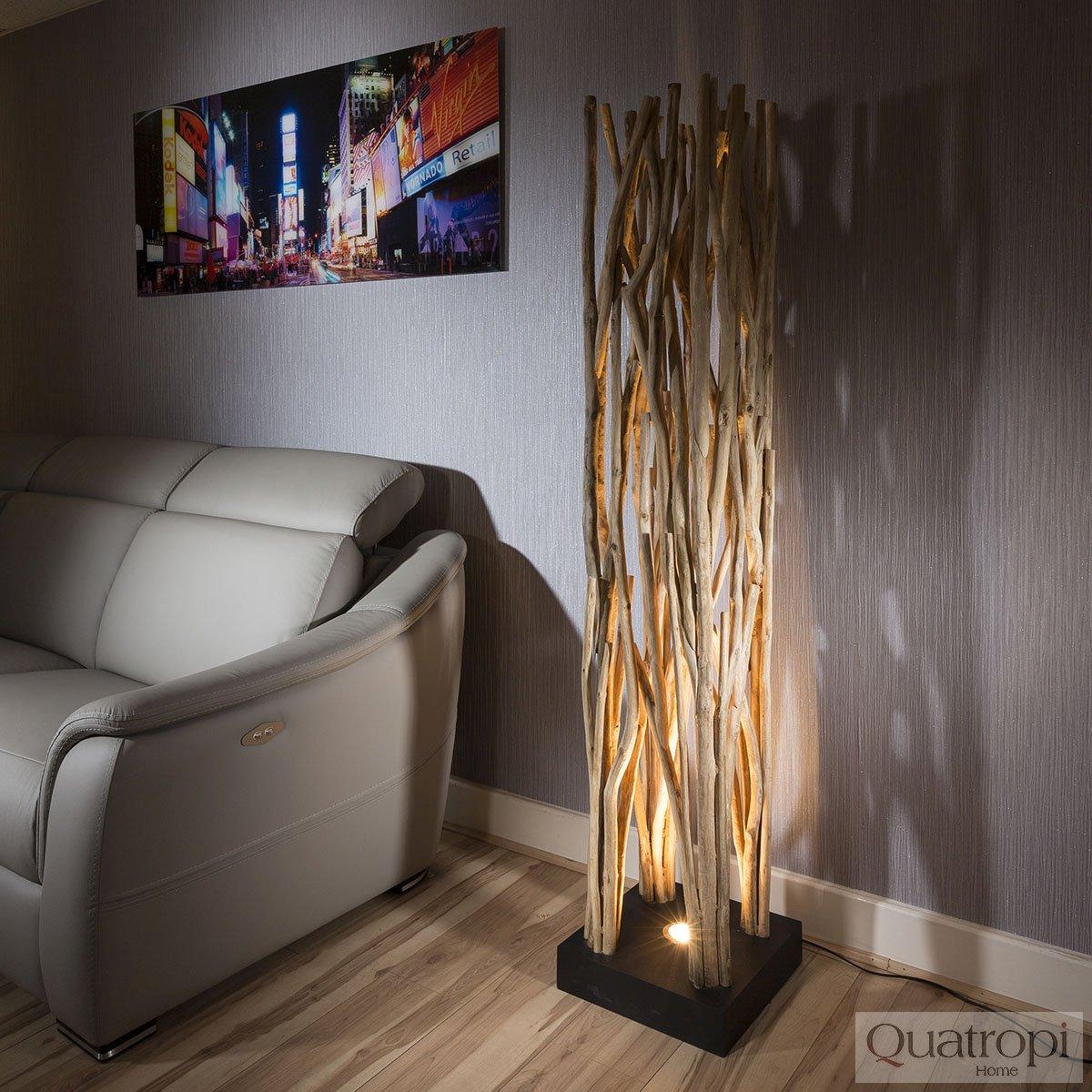 Floor Lamps Unique: Unique Designer Uplit Natural Driftwood Halogen Floor Lamp