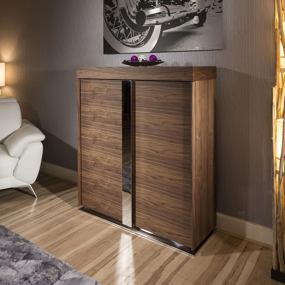 Modern Tall Sideboard Cabinet Buffet Cupboard In