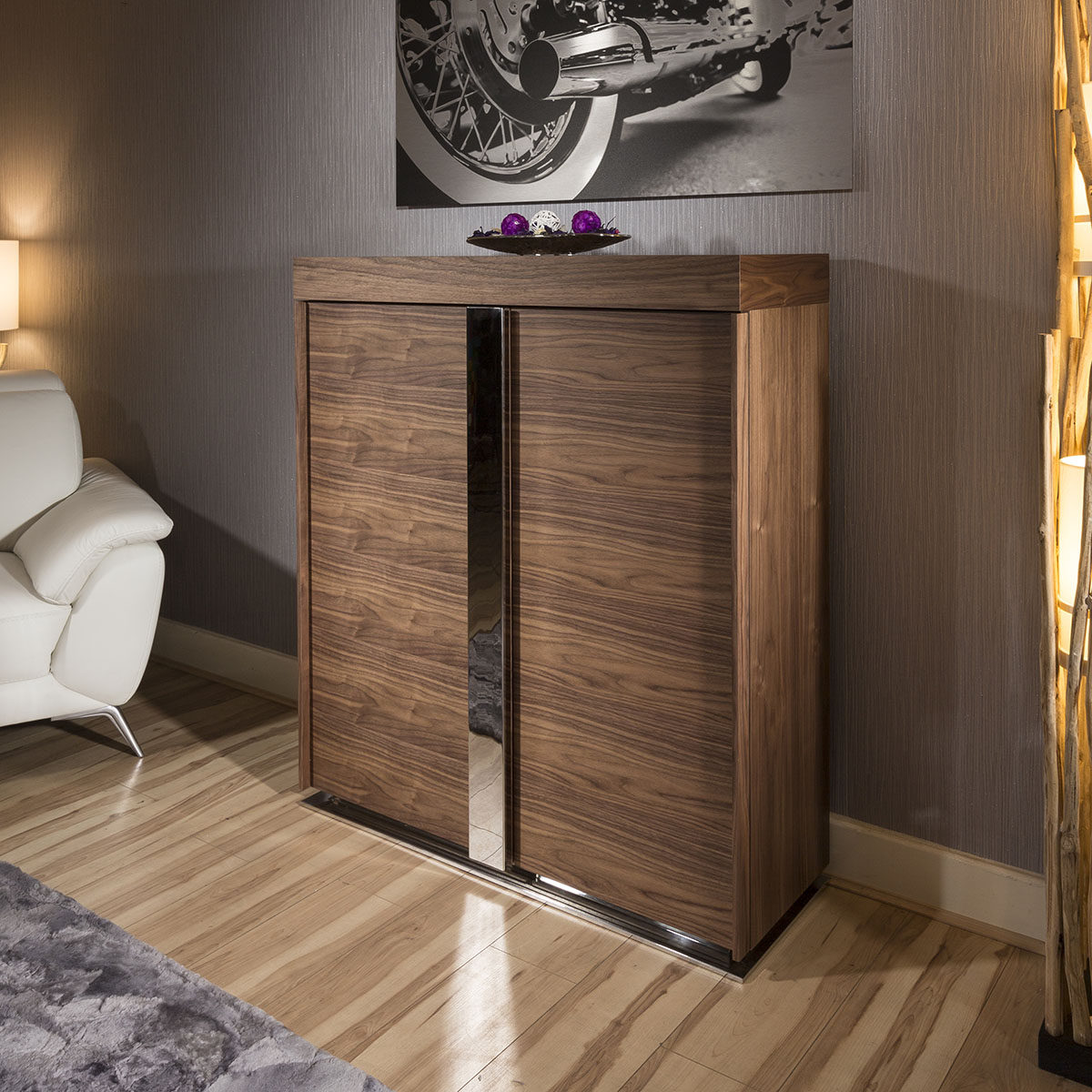 Modern Walnut Kitchen Cabinets: Modern Tall Sideboard / Cabinet / Buffet / Cupboard In