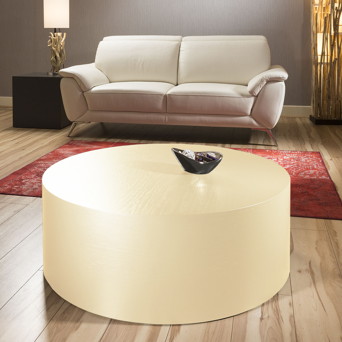 Luxury large round circular coffee 100cm table medium for Large cream coffee table
