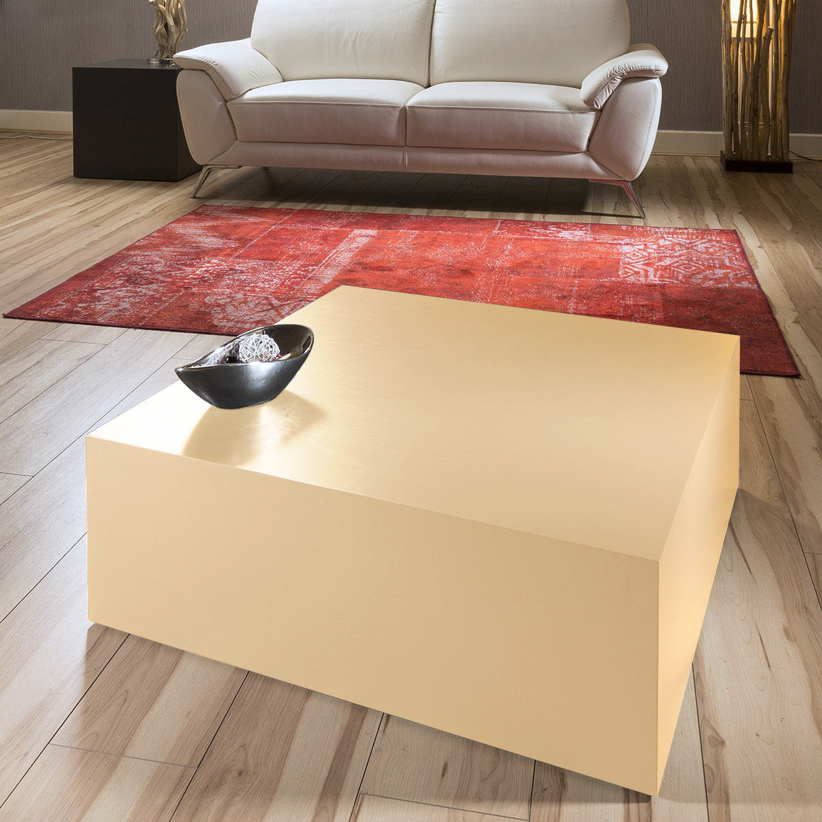 Low Modern Coffee Table: Luxury Modern Low 80x80cm Square Coffee Table Medium Oak