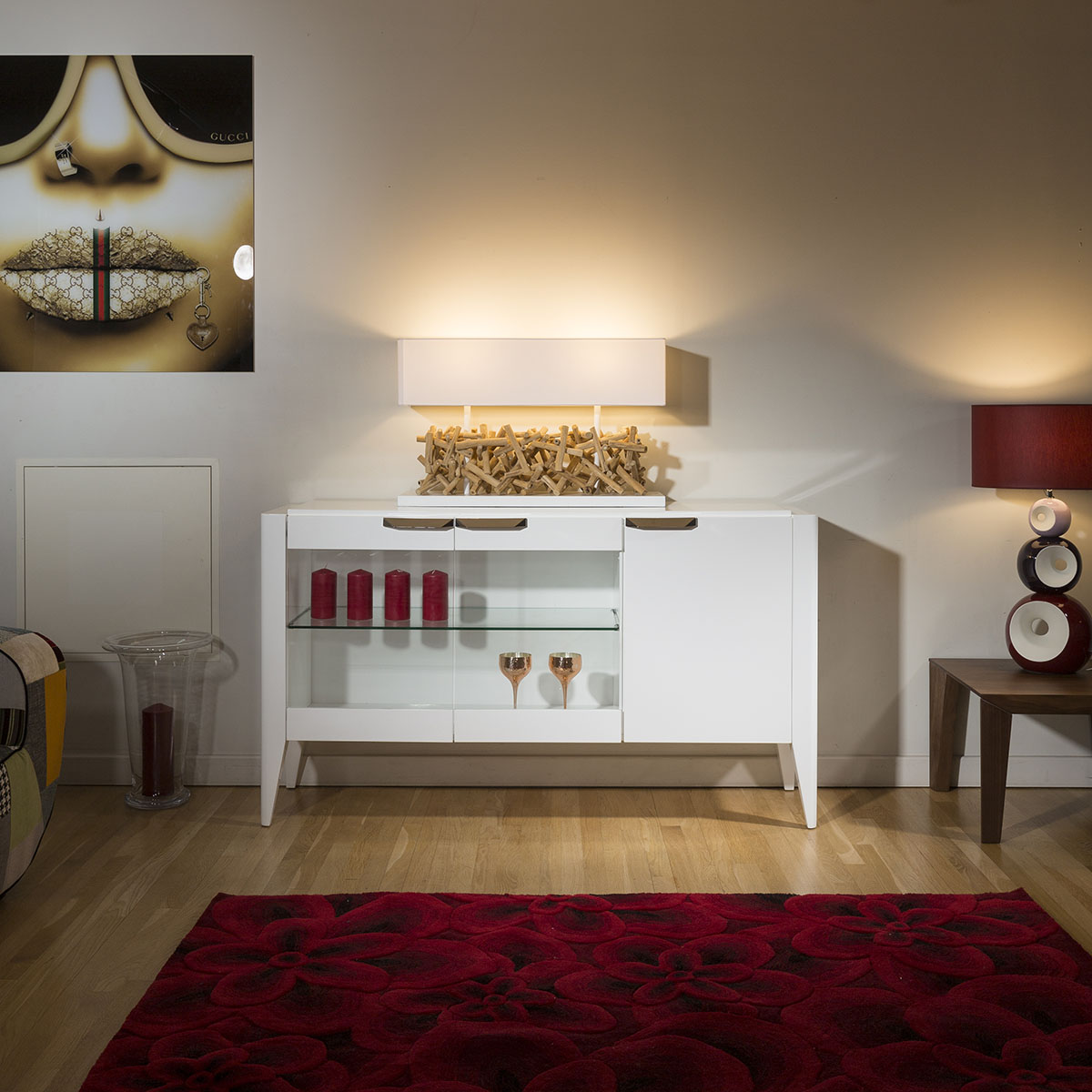 Luxury Modern Sideboard/Buffet/Display.White High Gloss ...