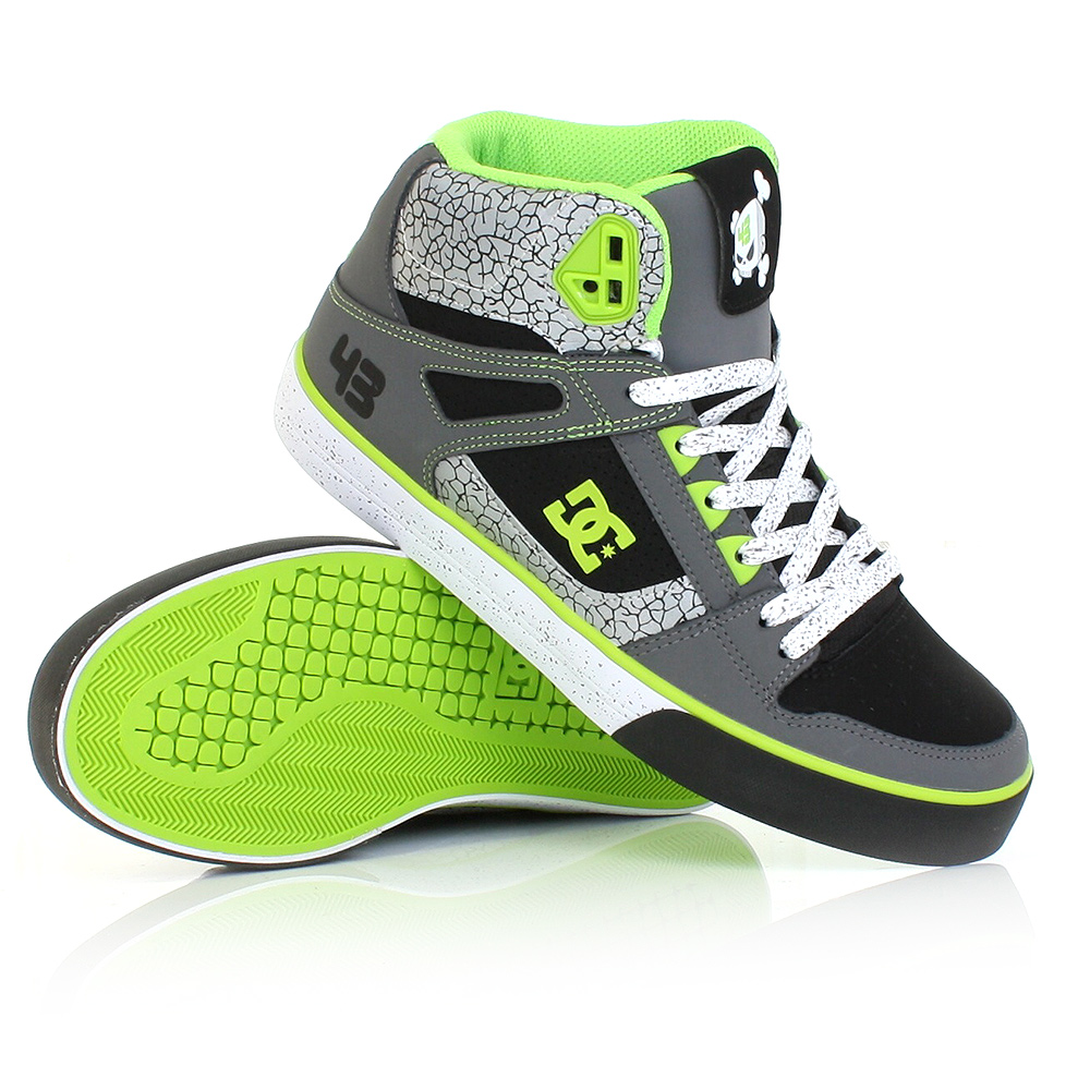 mens dc shoes ken block spartan hi wc black battleship. Black Bedroom Furniture Sets. Home Design Ideas