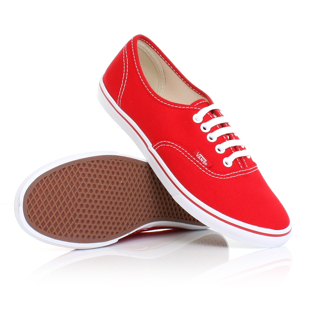 vans woman shoes red