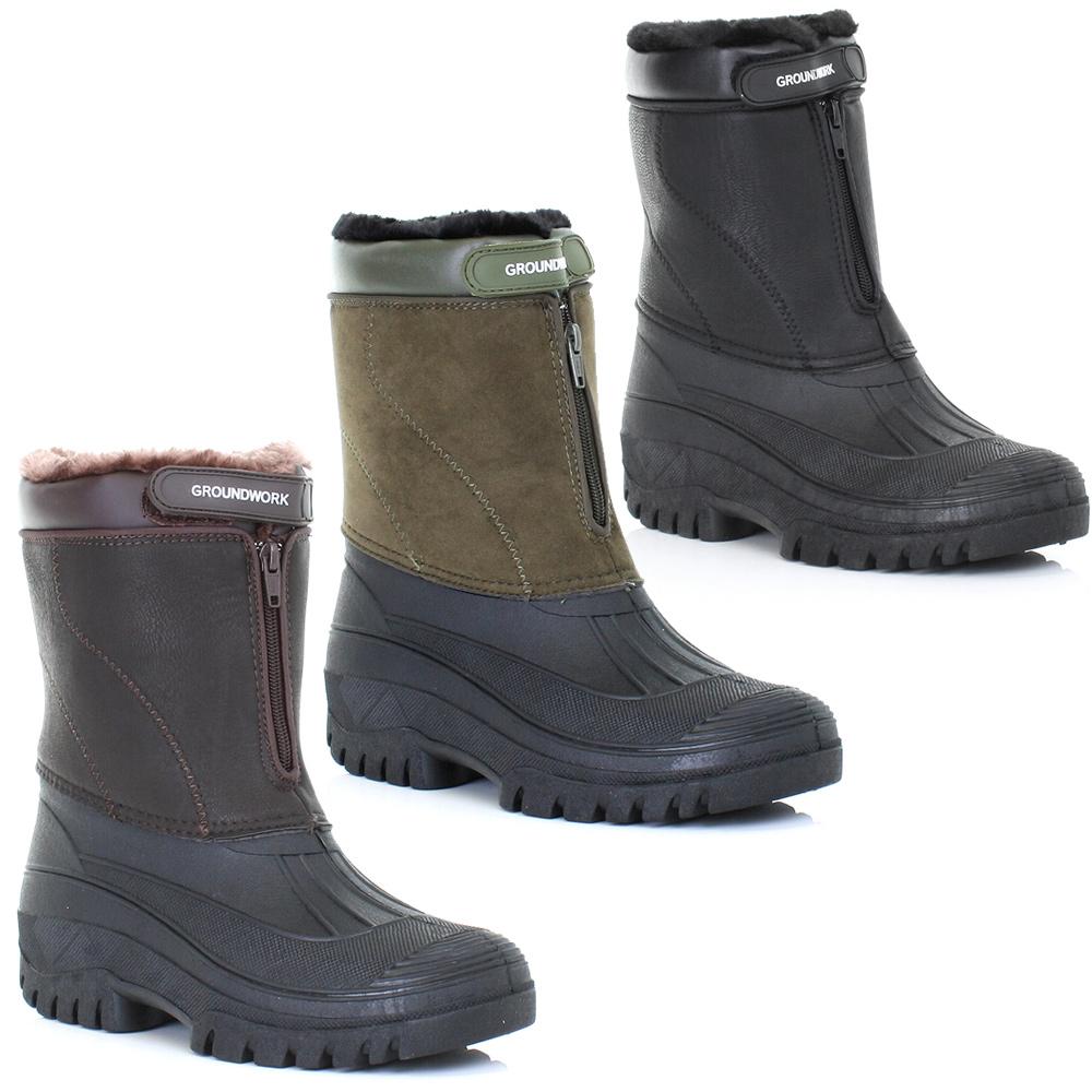 Ladies Mucker Wellies Wellington Winter Warm Waterproof