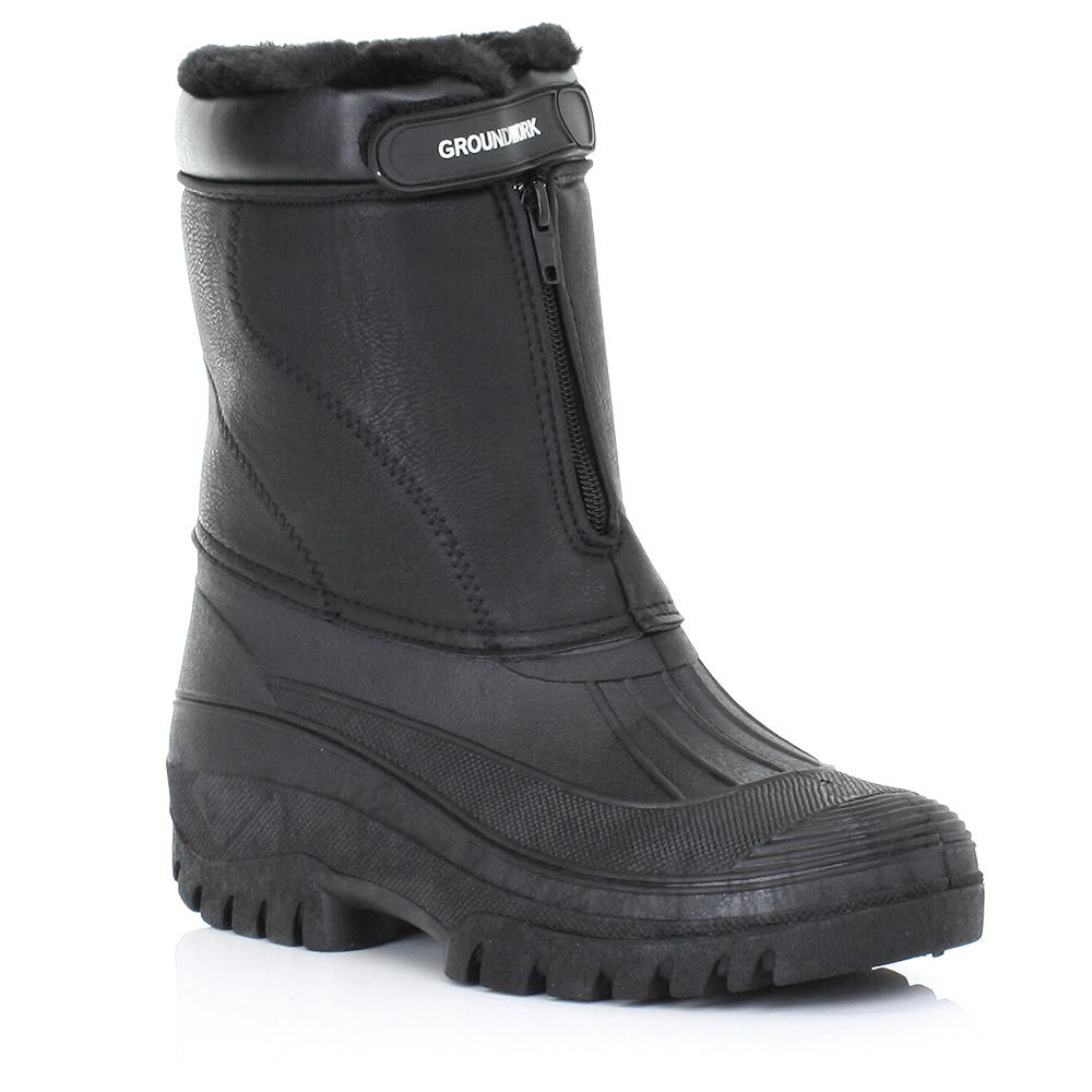 herren stiefel garten gummistiefel winter warm wasserfest arbeit boots 39 5 45 5 ebay. Black Bedroom Furniture Sets. Home Design Ideas