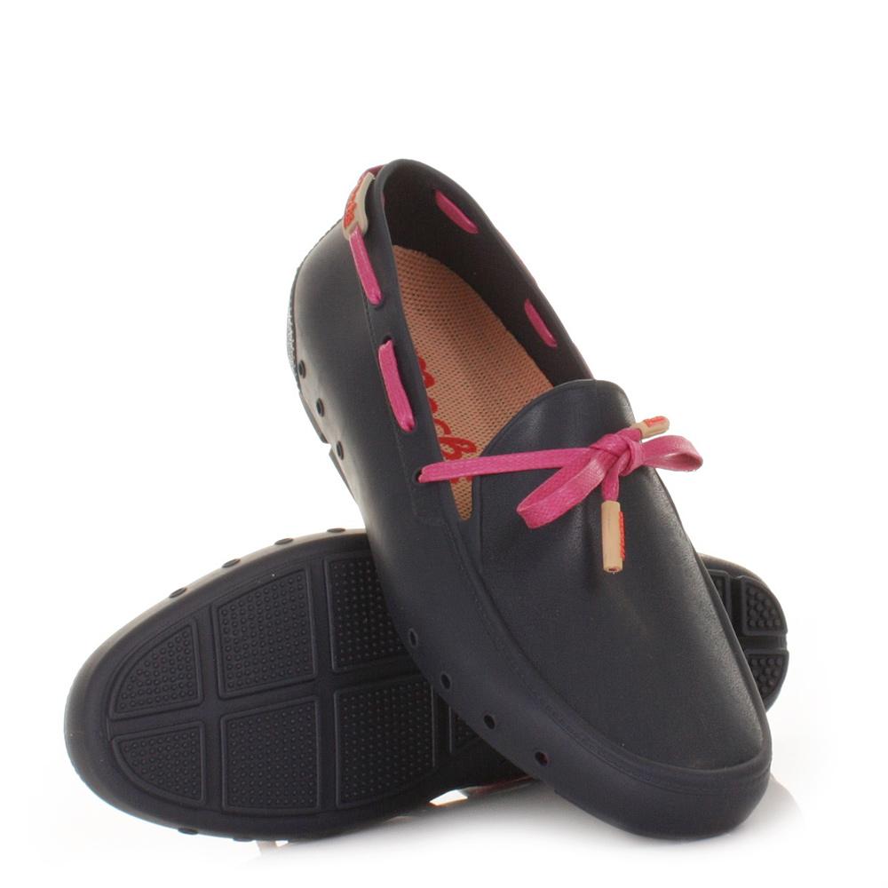 Womens Mocks Driver Navy Mocklite Washable Loafers Flat