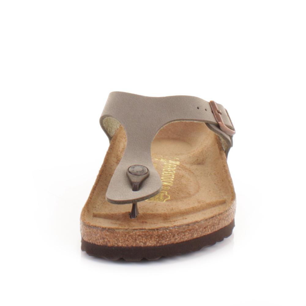 womens gizeh birkenstock stone flat footbed toe post. Black Bedroom Furniture Sets. Home Design Ideas