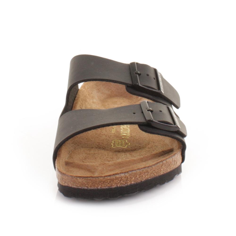 mens birkenstock arizona flat footbed slip on casual black