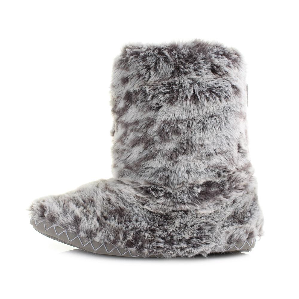 Womens Bedroom Athletics Cole Snowy Owl Luxury Faux Fur