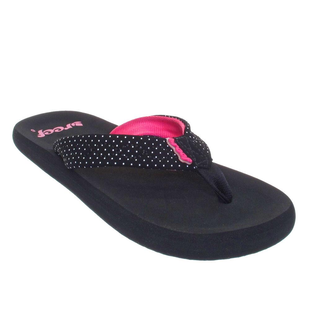 flip flops zehensandalen reef damen seaside kr ftiges pink gr e 36 41 ebay. Black Bedroom Furniture Sets. Home Design Ideas