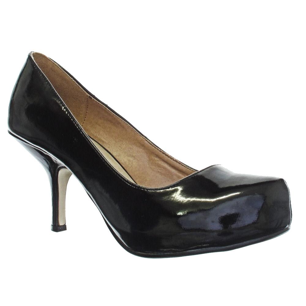 new mid heel black patent court shoes size 3 8 ebay