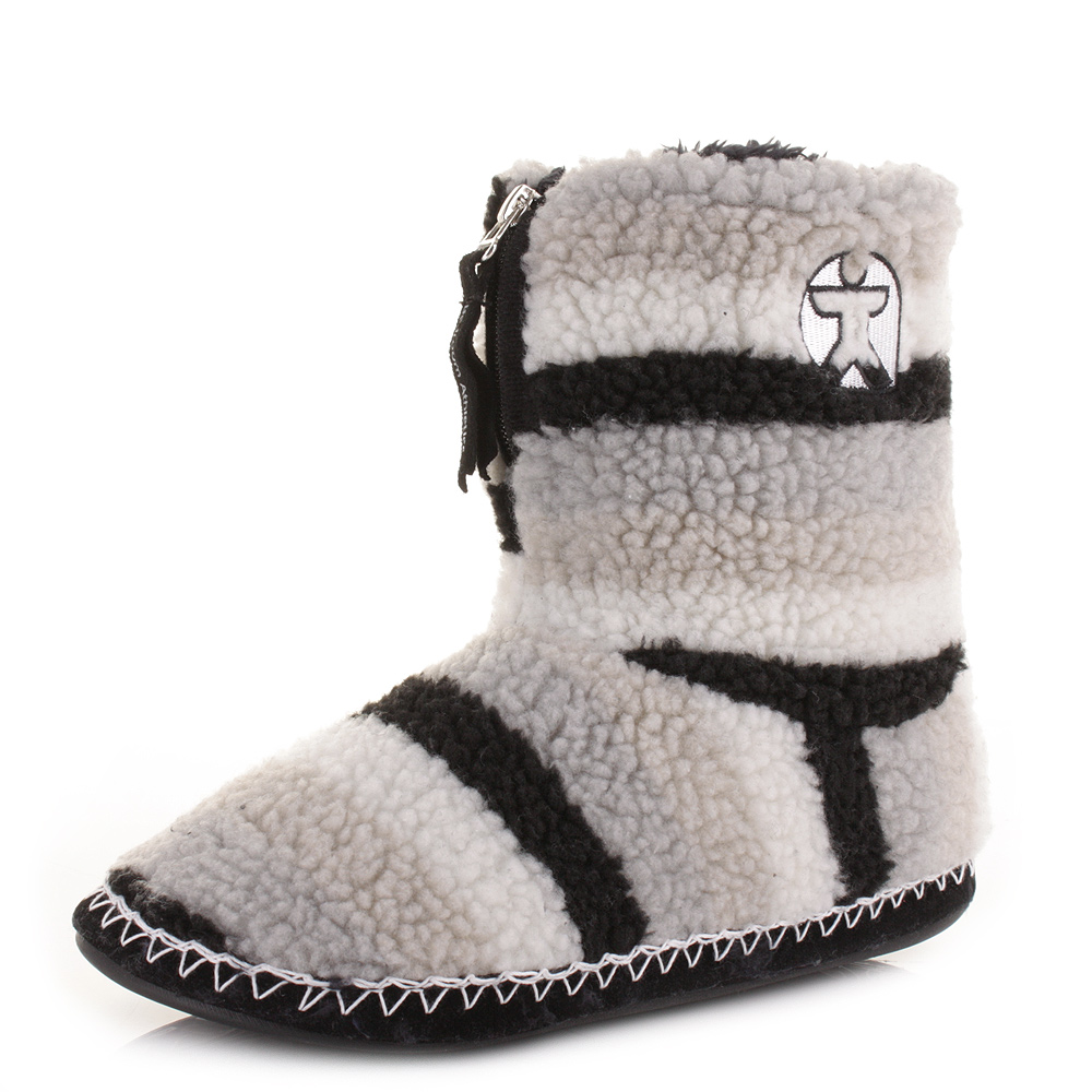 mens bedroom athletic newman black sherpa striped fleece warm slipper boots size ebay