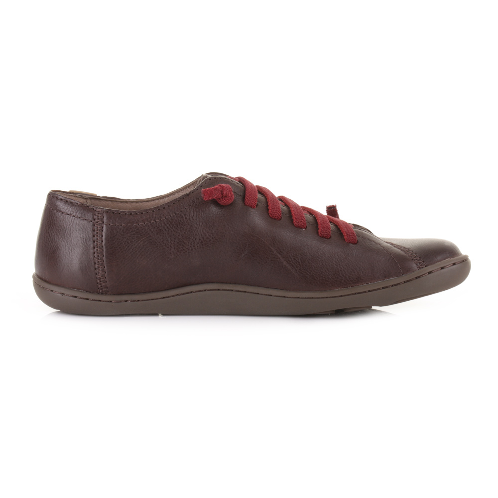 womens cer peu patty kenia brown lace up flat leather