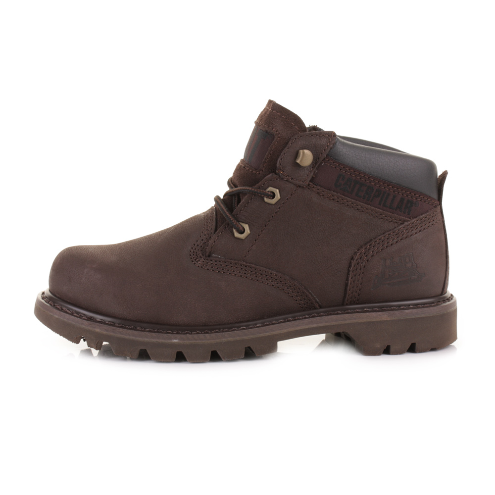 MENS CATERPILLAR EALING MID ESPRESSO LEATHER CASUAL