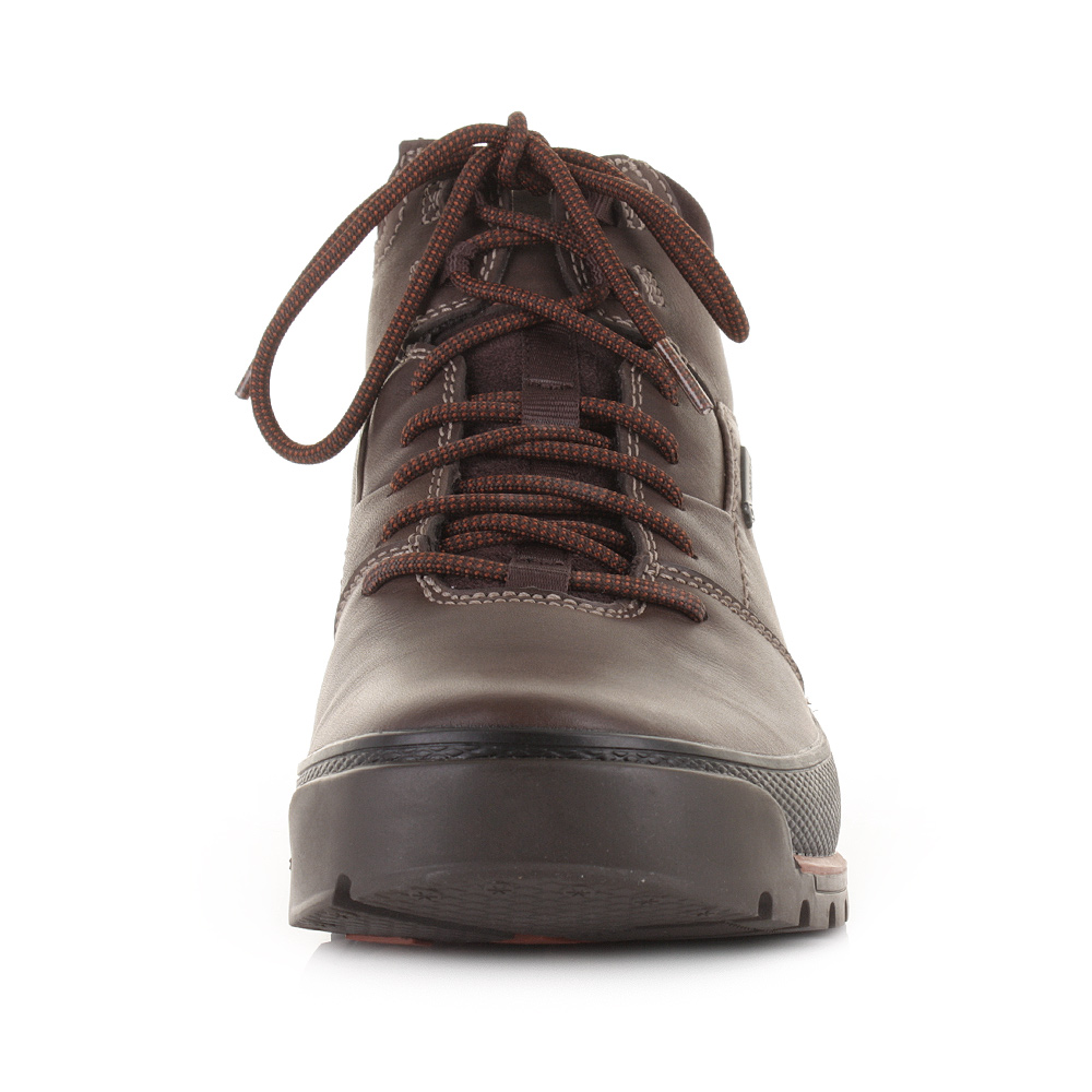 mens clarks narly trail gtx brown leather ankle walking