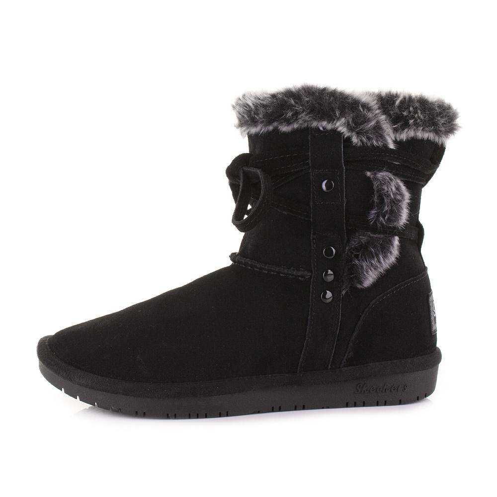 Black Suede Boots Faux Fur - ShopStyle