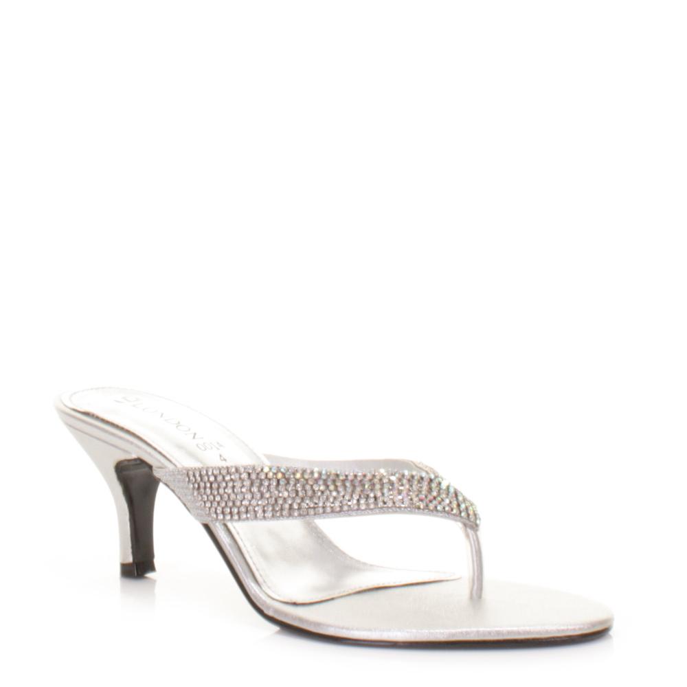 Silver Gem Heels
