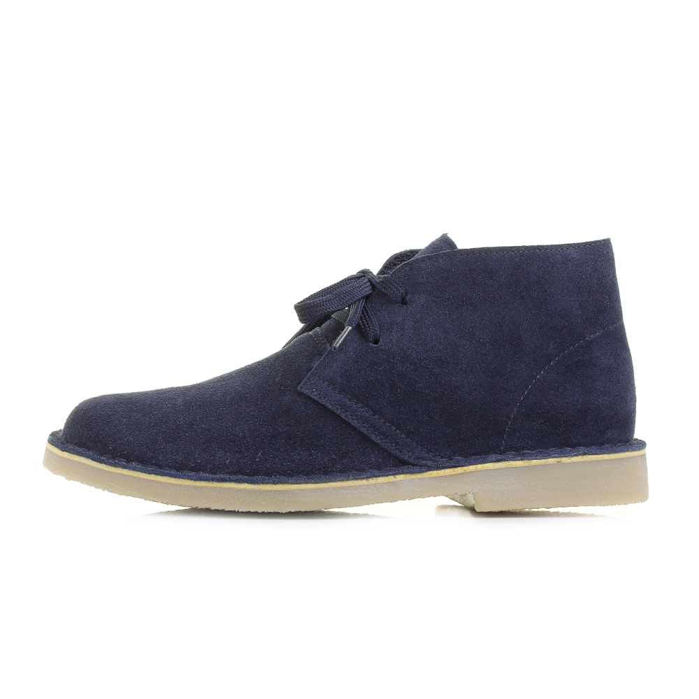 Mens Navy Blue Desert Real Suede Ankle Boots Shu Size