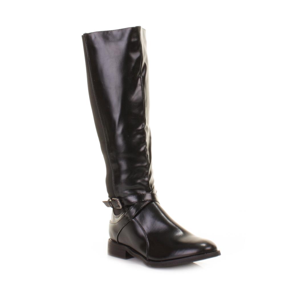 womens black wider wide fit calf stretch