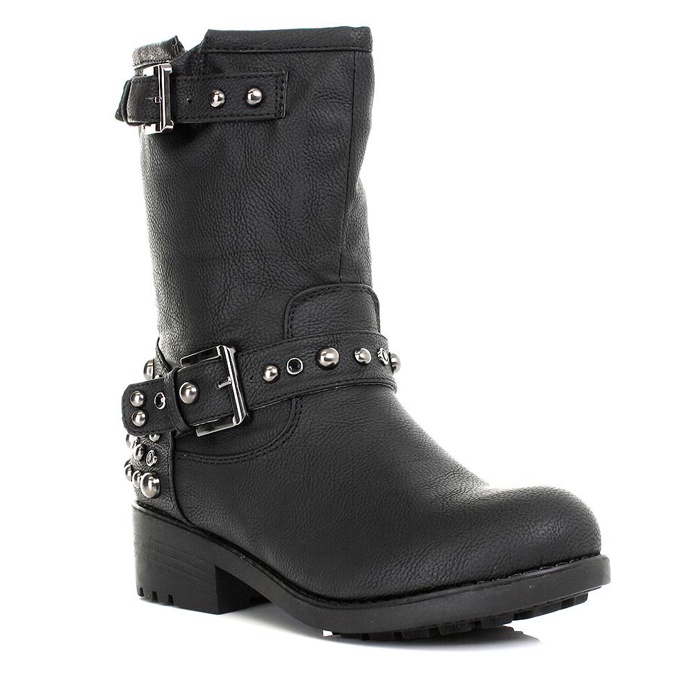 runway shoes stiefel damen niedriger absatz nieten muster. Black Bedroom Furniture Sets. Home Design Ideas