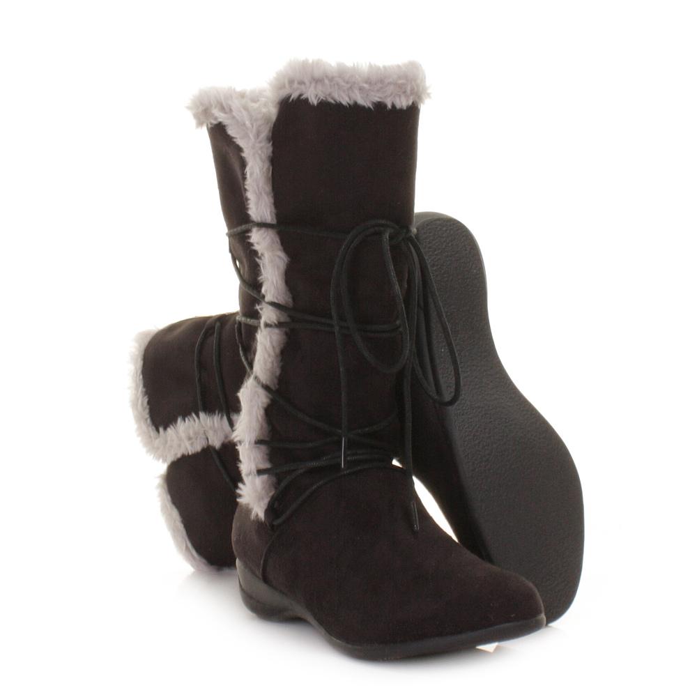 womens animal tulsa black suede warm winter calf