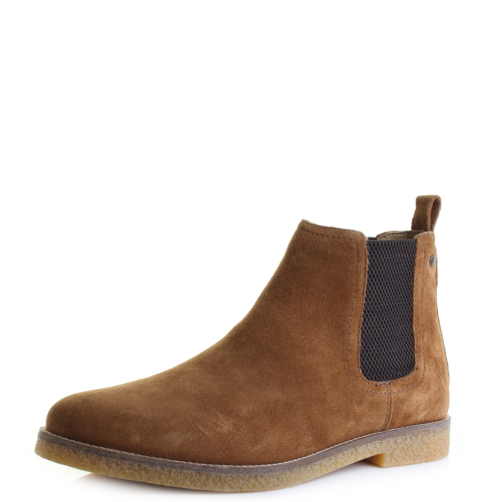 mens base ferdinand suede leather chelsea boots