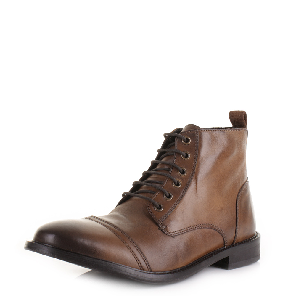mens base london johnny washed tan leather smart worker ankle item specifics