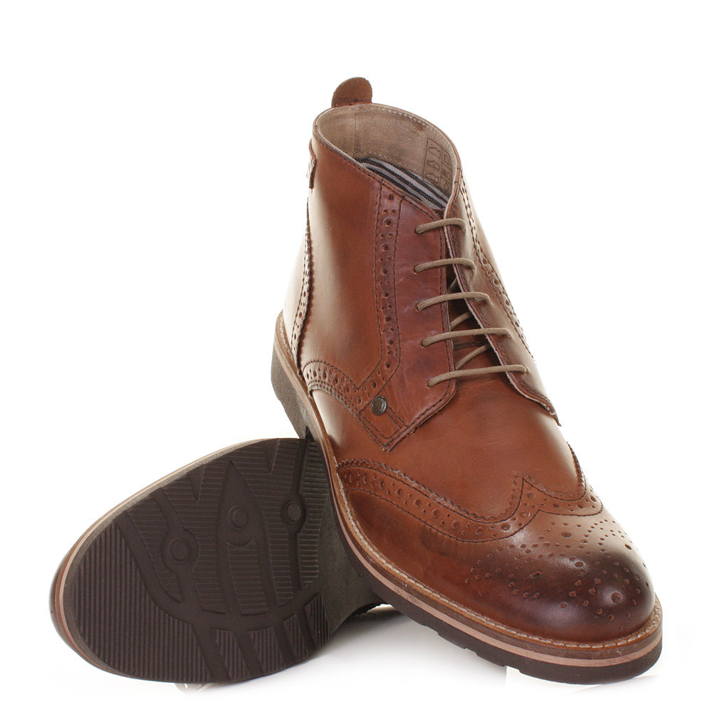 mens base siesta leather brogue shoes