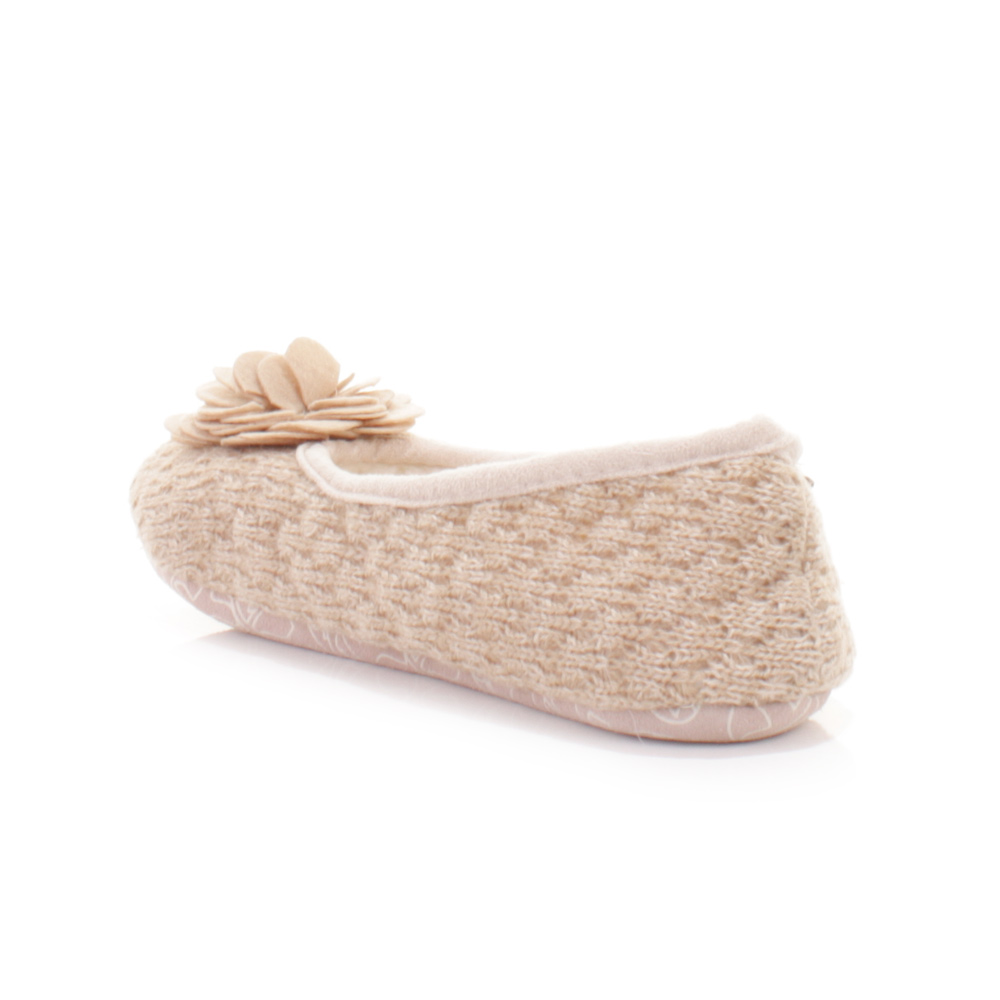 womens bedroom athletics charlize natural fleece knit slipper shoes size ebay. Black Bedroom Furniture Sets. Home Design Ideas