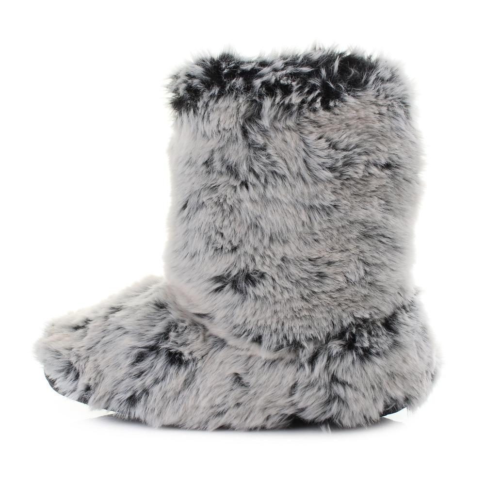 Womens Bedroom Athletics Cole Possum Luxury Faux Fur