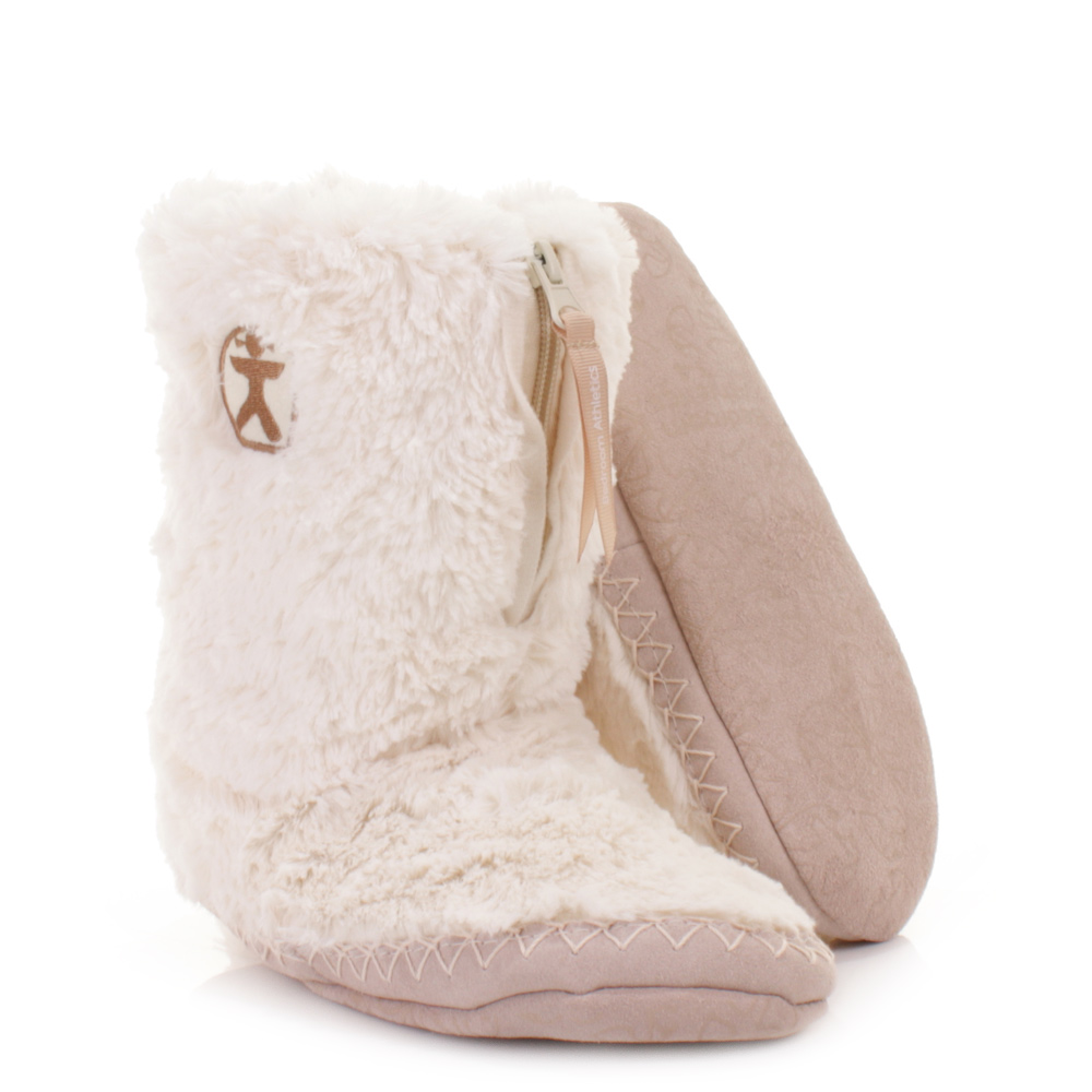 womens girls bedroom athletics marilyn cream fleece fur faux slippers