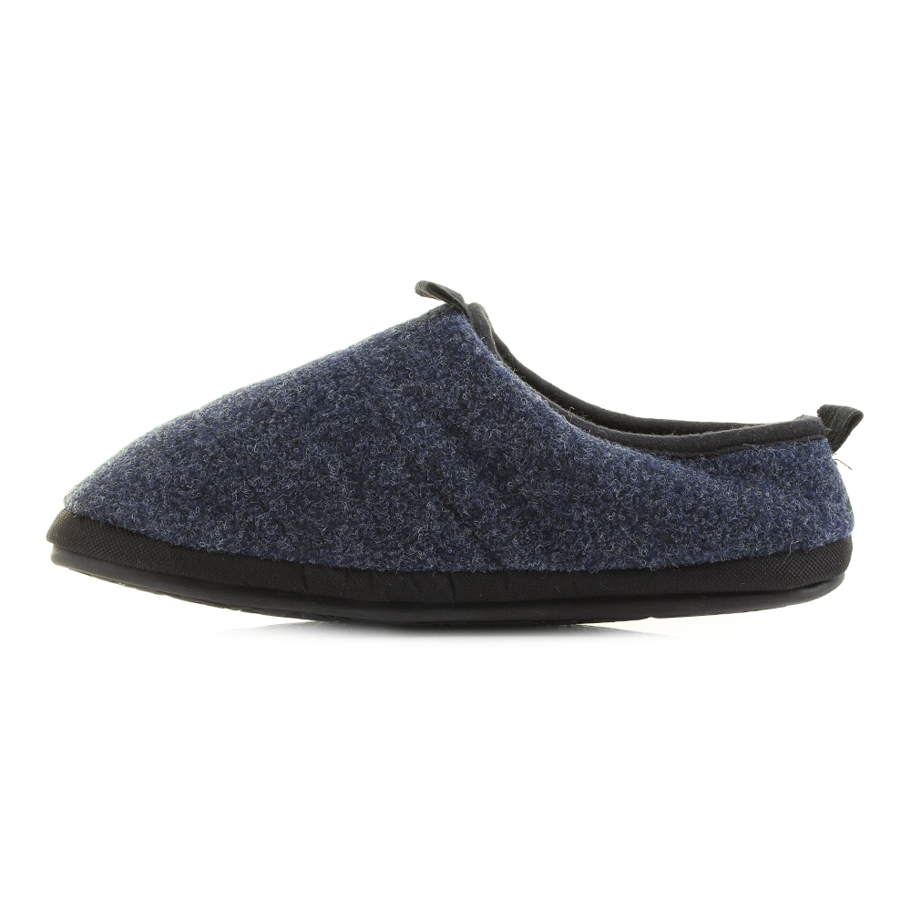 Mens Bedroom Athletics Travolta Navy Fleece Lined Mule Slippers Sz Size