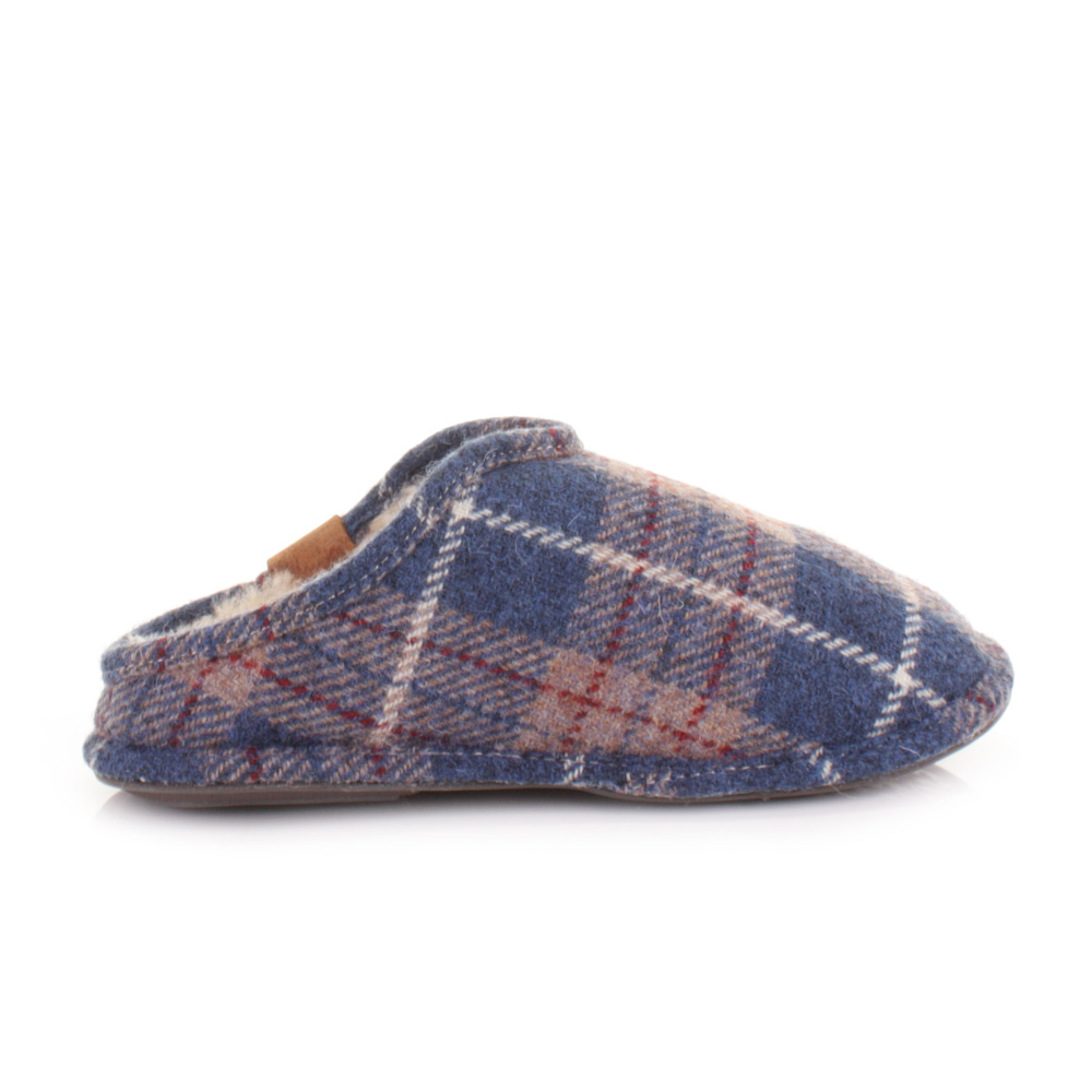 Bedroom Athletics William Airforce Blue Check Harris Tweed