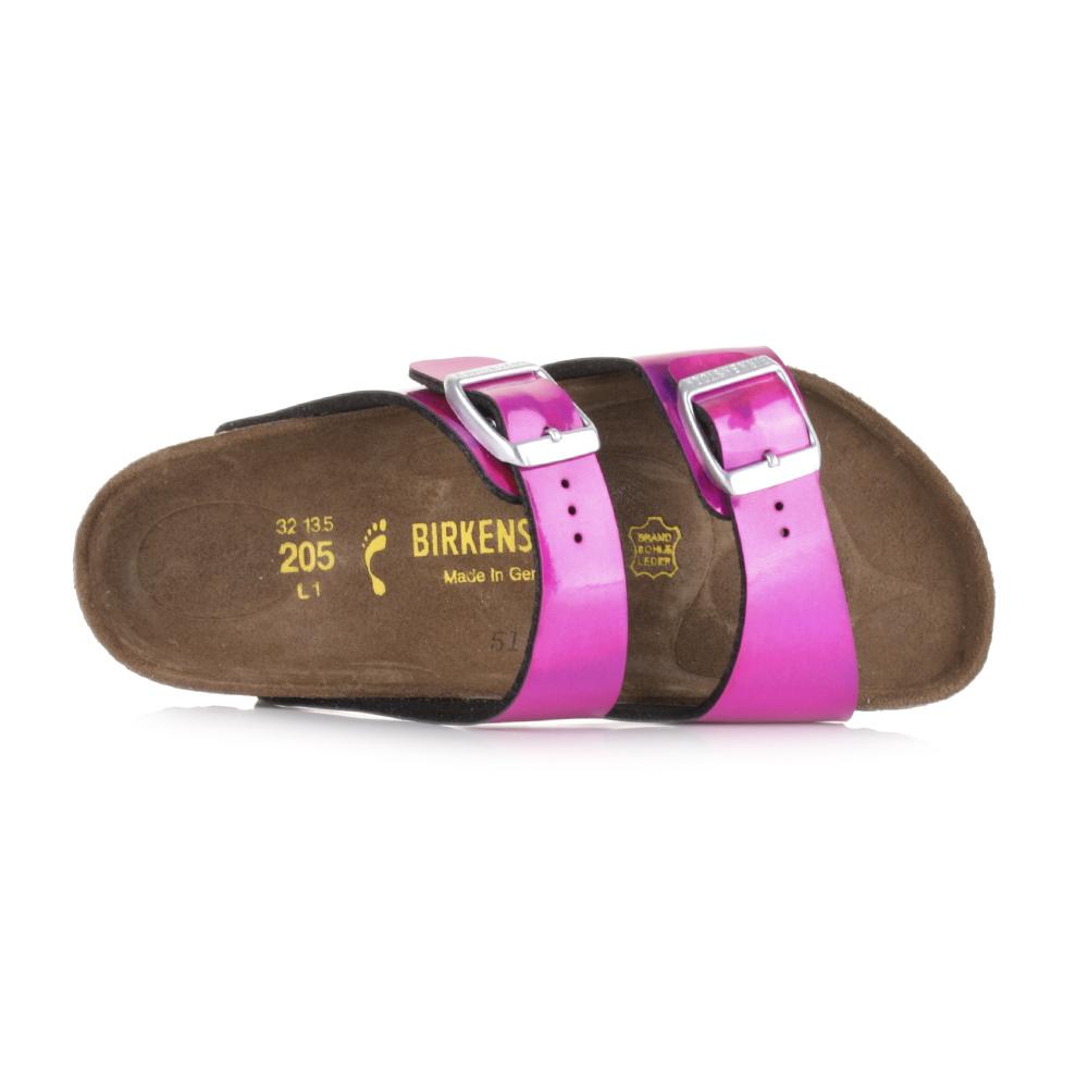 girls kids birkenstock arizona kinder mirror pink comfort beach sandals sz size ebay. Black Bedroom Furniture Sets. Home Design Ideas