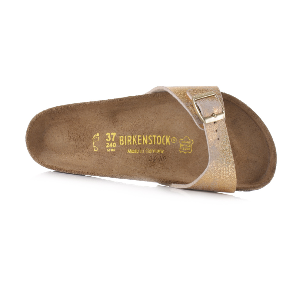 womens birkenstock madrid normal fit stardust gold single. Black Bedroom Furniture Sets. Home Design Ideas